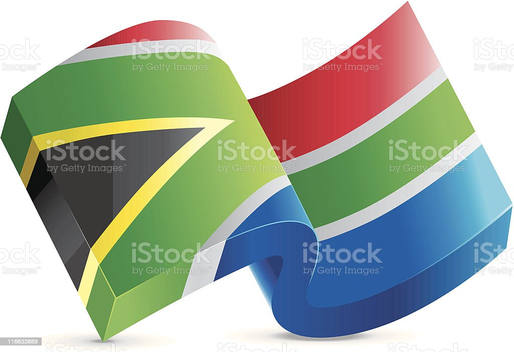 Flag Lapel Button - South Africa royalty-free stock vector art