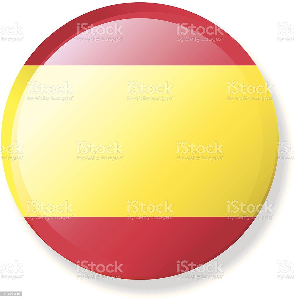 Flag Lapel Button - Spain vector art illustration
