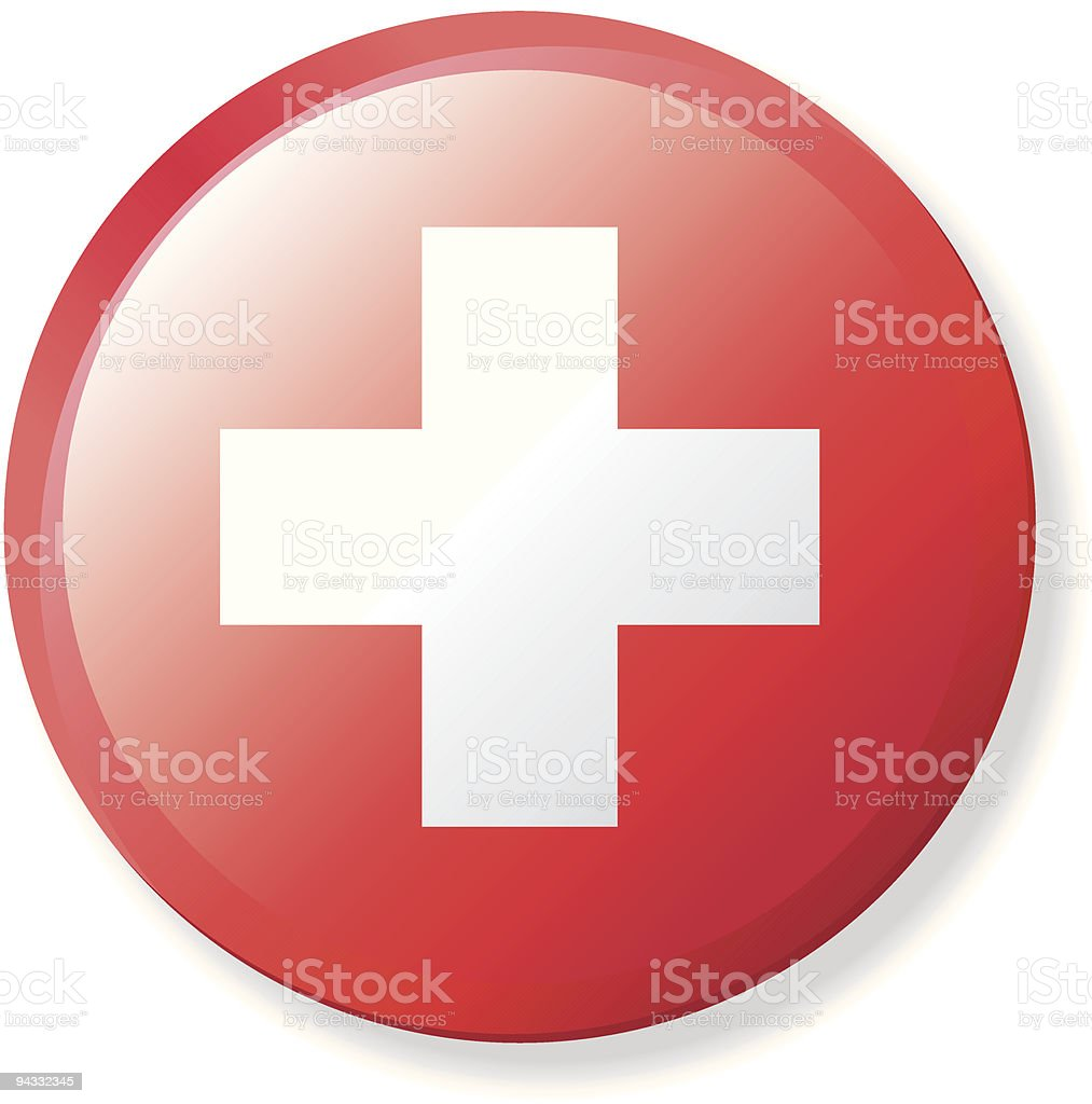 Flag Lapel Button - Switzerland royalty-free stock vector art