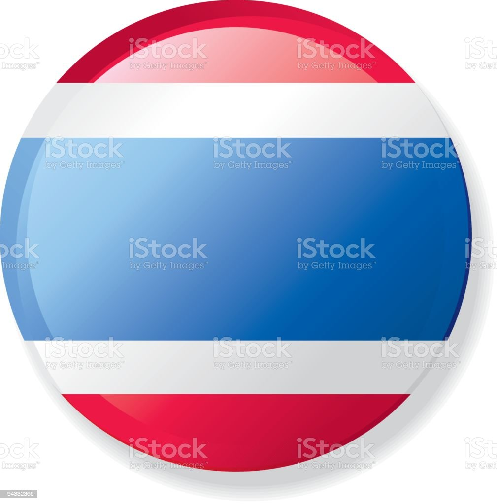 Flag Lapel Button - Thailand royalty-free stock vector art