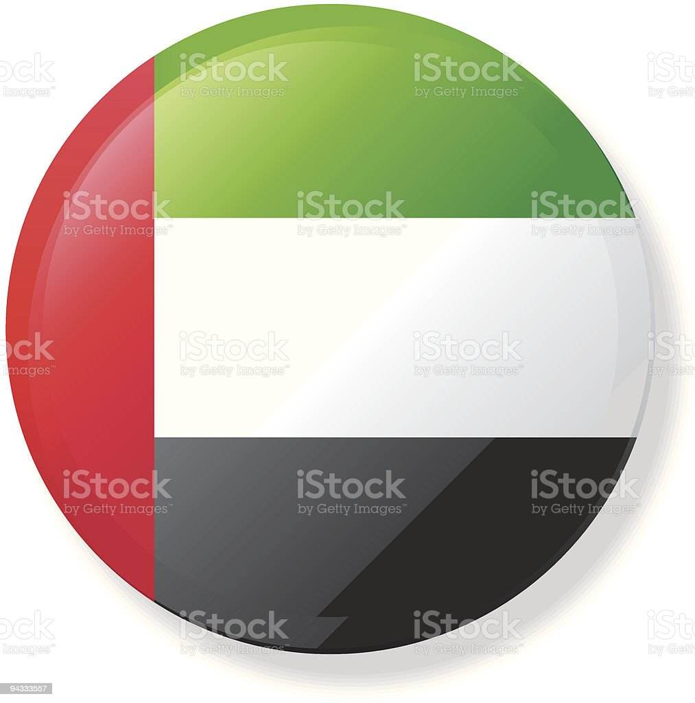 Flag Lapel Button - United Arab Emirates royalty-free stock vector art