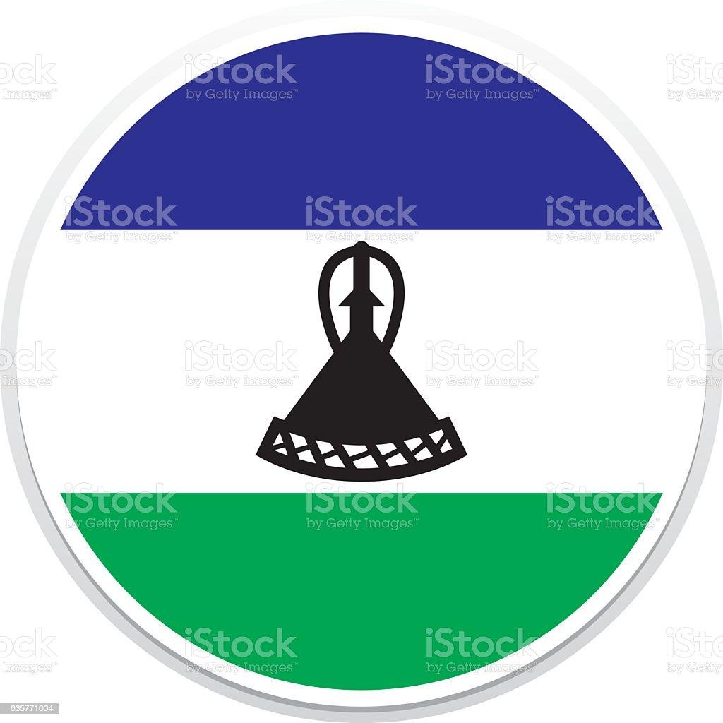 Flag Lesotho vector art illustration
