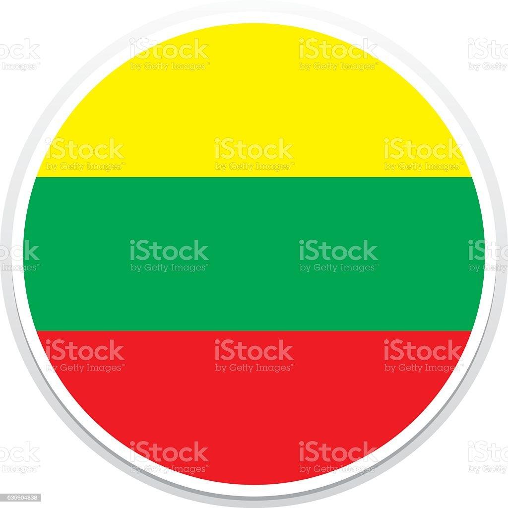Flag Lithuania vector art illustration