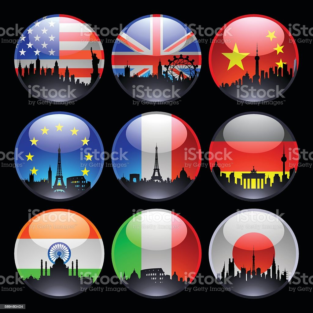 Flag Marbles vector art illustration