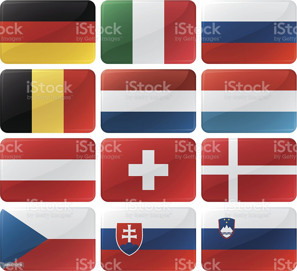 Flag Menu Buttons royalty-free stock vector art