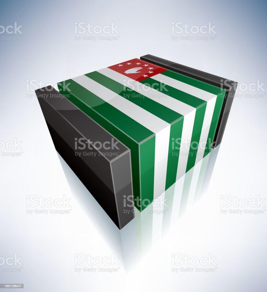 3D flag of Abkhazia royalty-free stock vector art