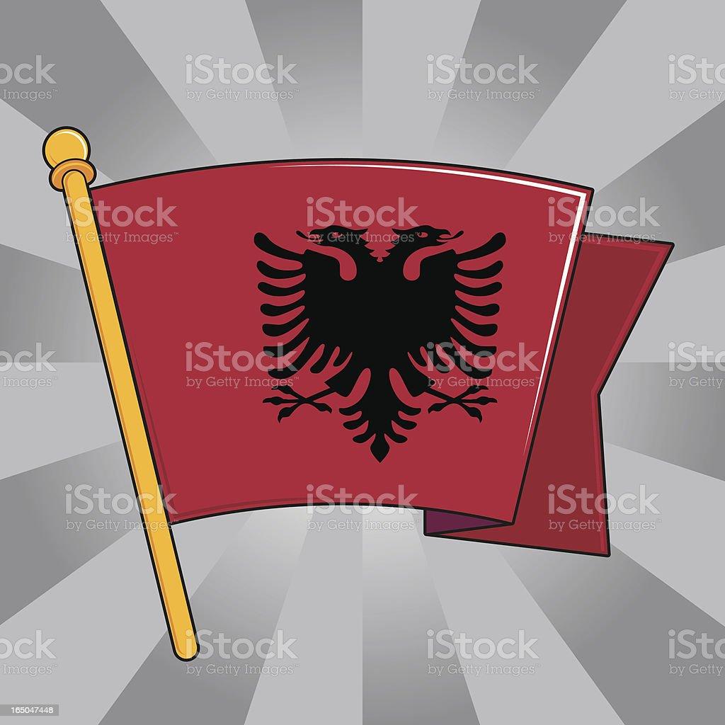 Flag of Albania vector art illustration