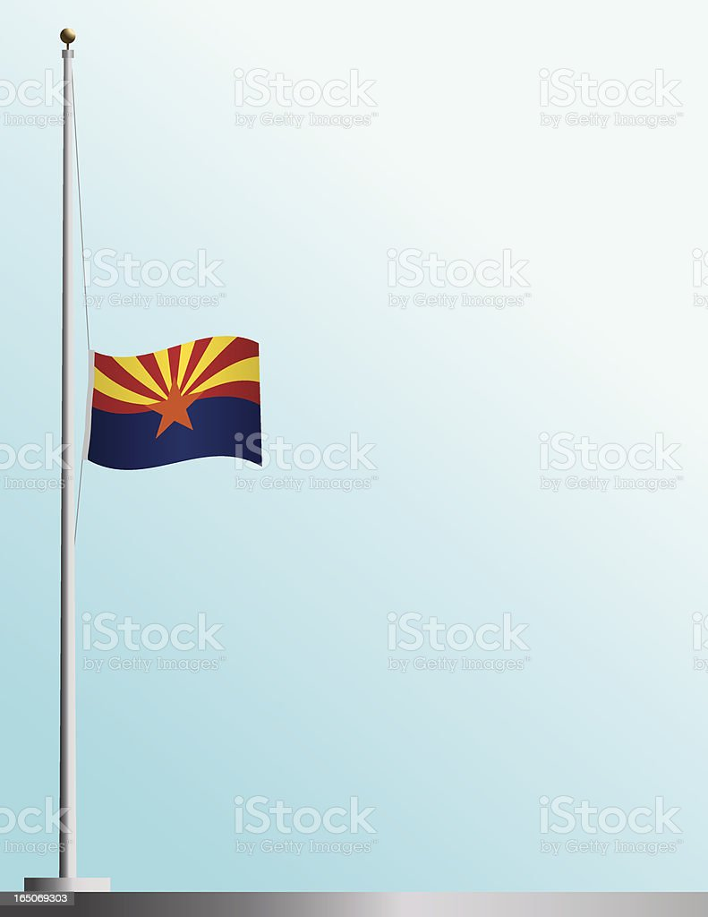 Flag of Arizona at Half-Staff royalty-free stock vector art