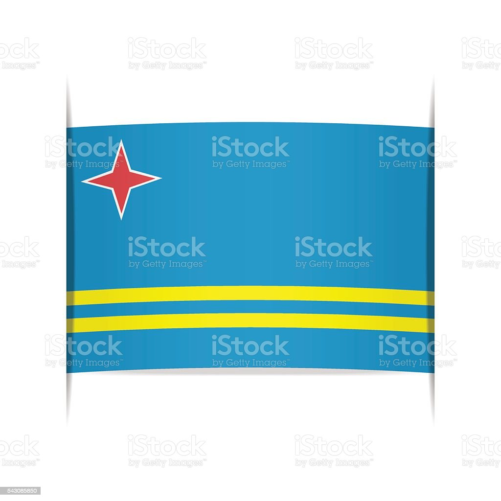 Flag of Aruba. Element for infographics. vector art illustration