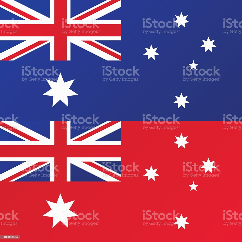 Flag of Australia, Australian Red Ensign vector art illustration