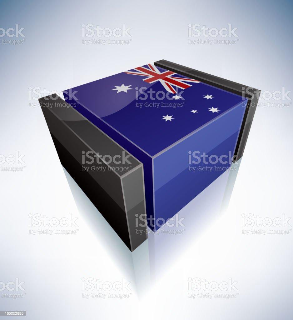 3D flag of Australia royalty-free stock vector art