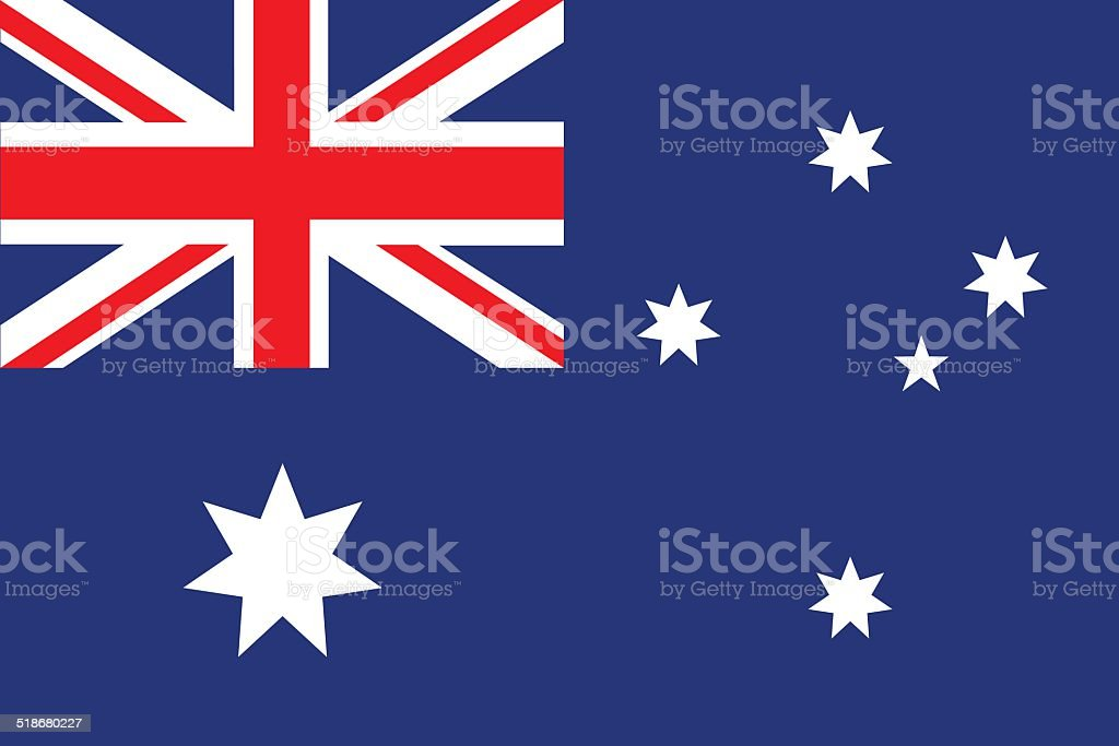 Flag of  Australia vector vector art illustration