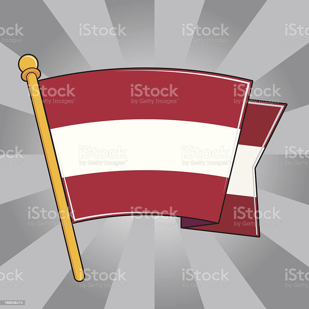 Flag of Austria royalty-free stock vector art