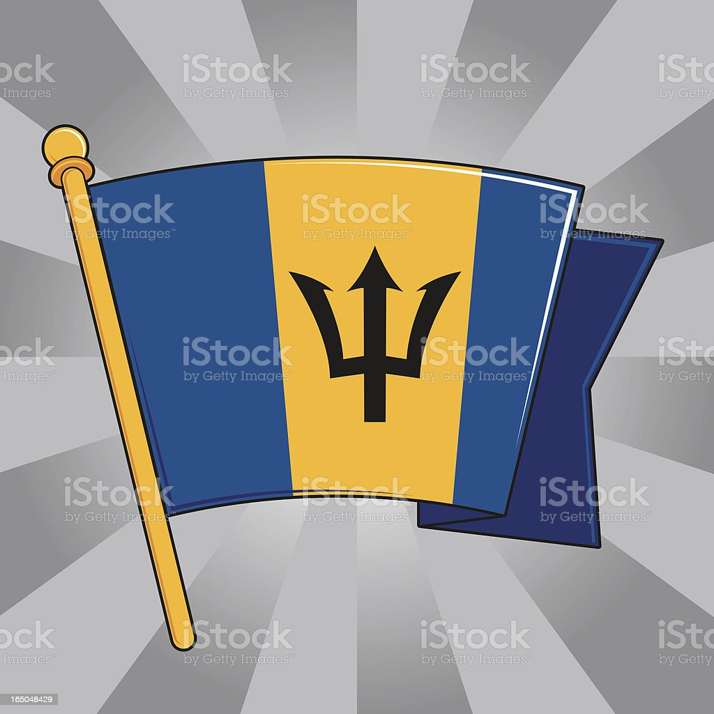 Flag of Barbados royalty-free stock vector art