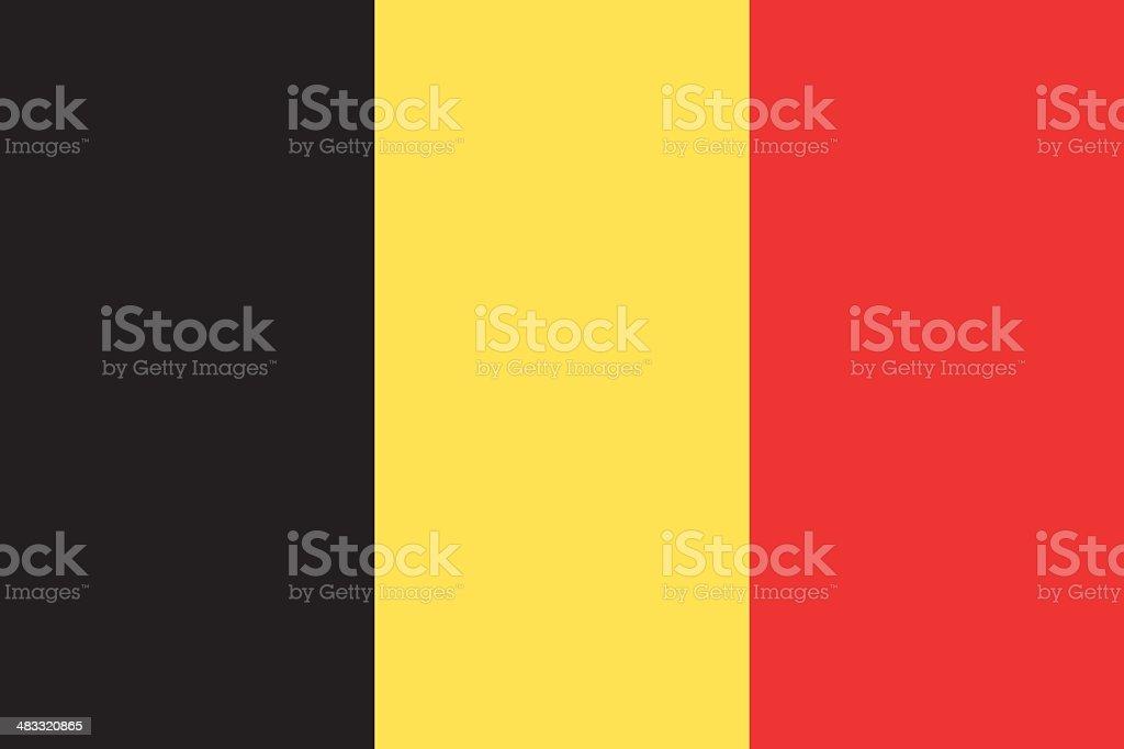 Flag of Belgium vector art illustration