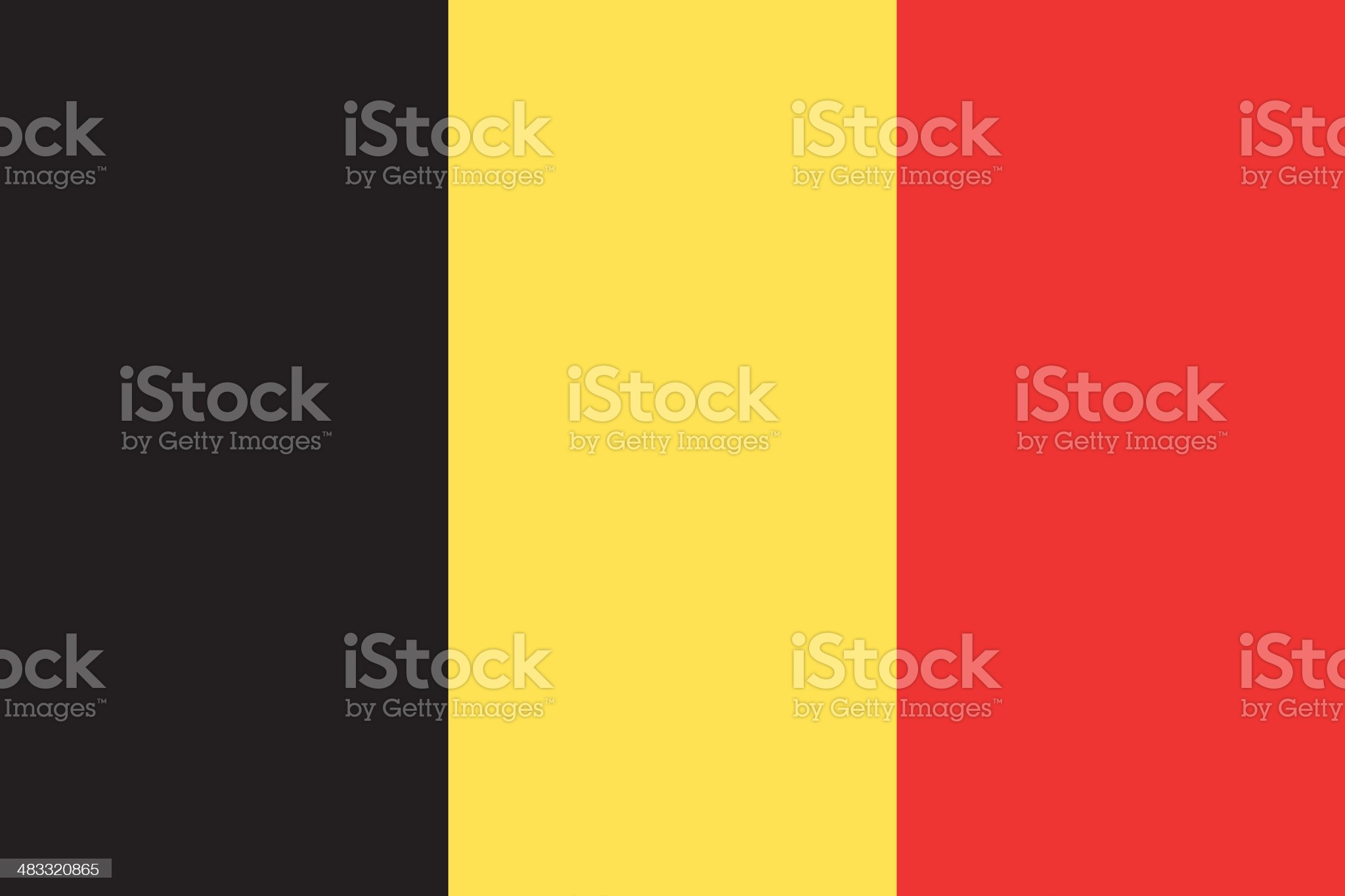 Flag of Belgium royalty-free stock vector art