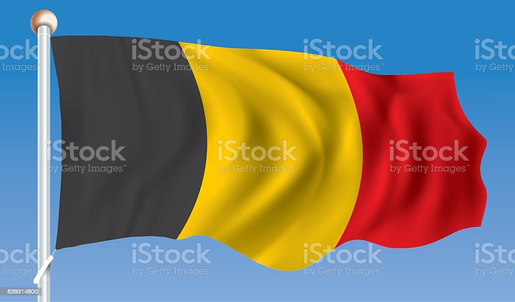 Flag of Belgium vector art illustration
