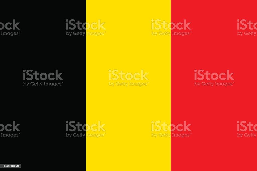 Flag of Belgium vector vector art illustration