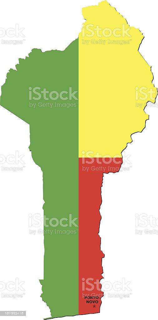 Flag Of Benin royalty-free stock vector art