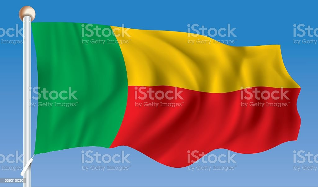 Flag of Benin vector art illustration