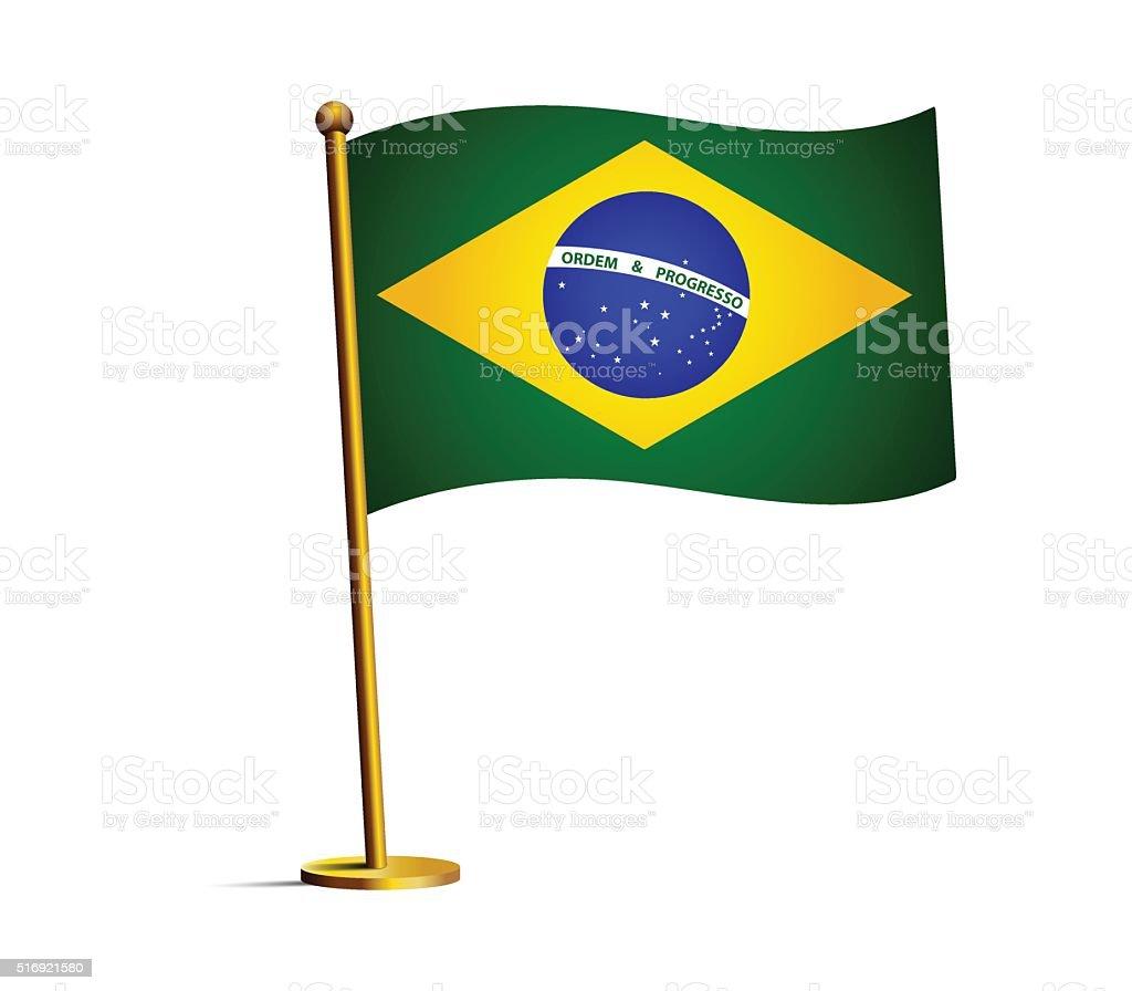 Flag of brazil vector art illustration