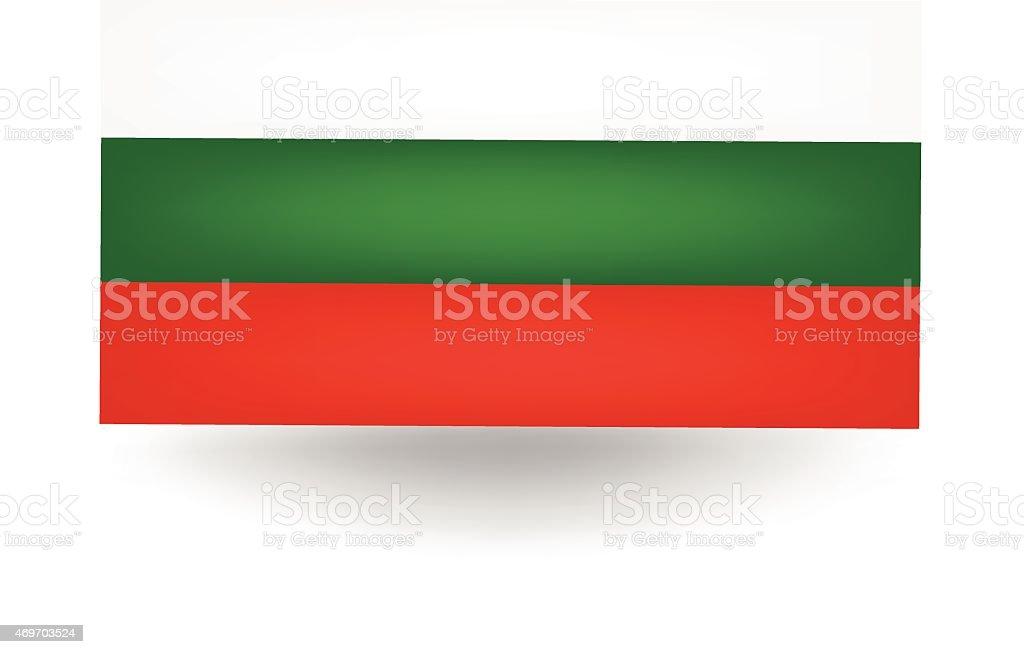Flag Of Bulgaria vector art illustration