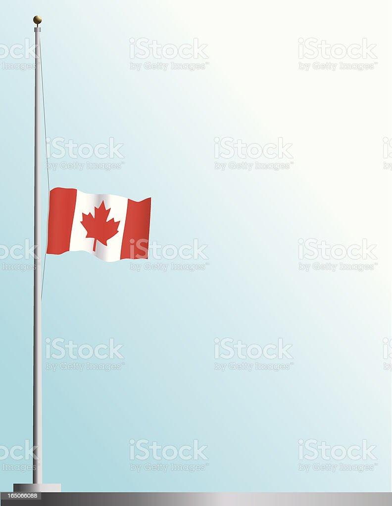 Flag of Canada at Half-Staff royalty-free stock vector art
