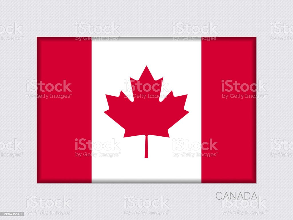 Flag of Canada. Rectangular Official Flag with Proportion 2:3 vector art illustration