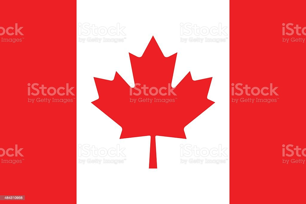 Flag of Canada vector art illustration