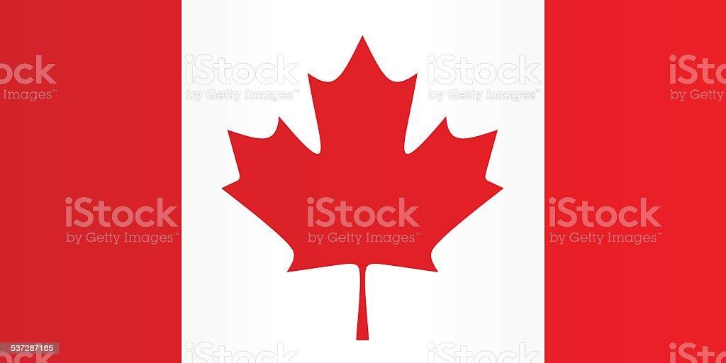 Flag of Canada vector art illustration