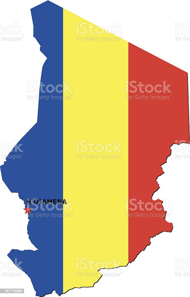 Flag Of Chad royalty-free stock vector art