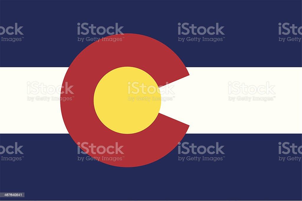 Flag of Colorado vector art illustration