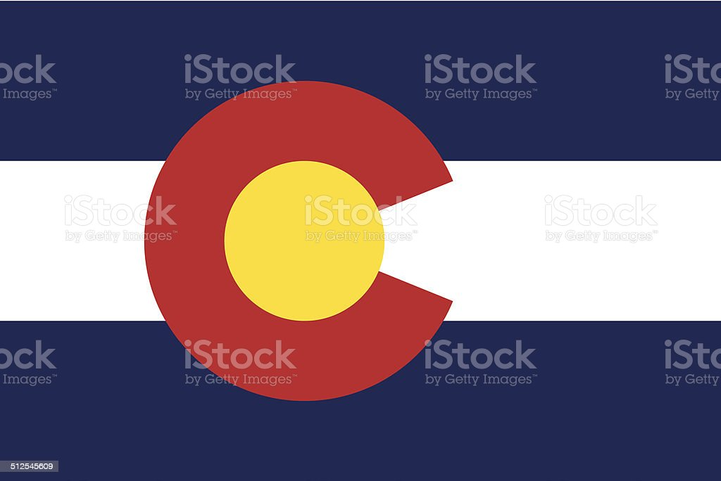 Flag of Colorado vector art illustration