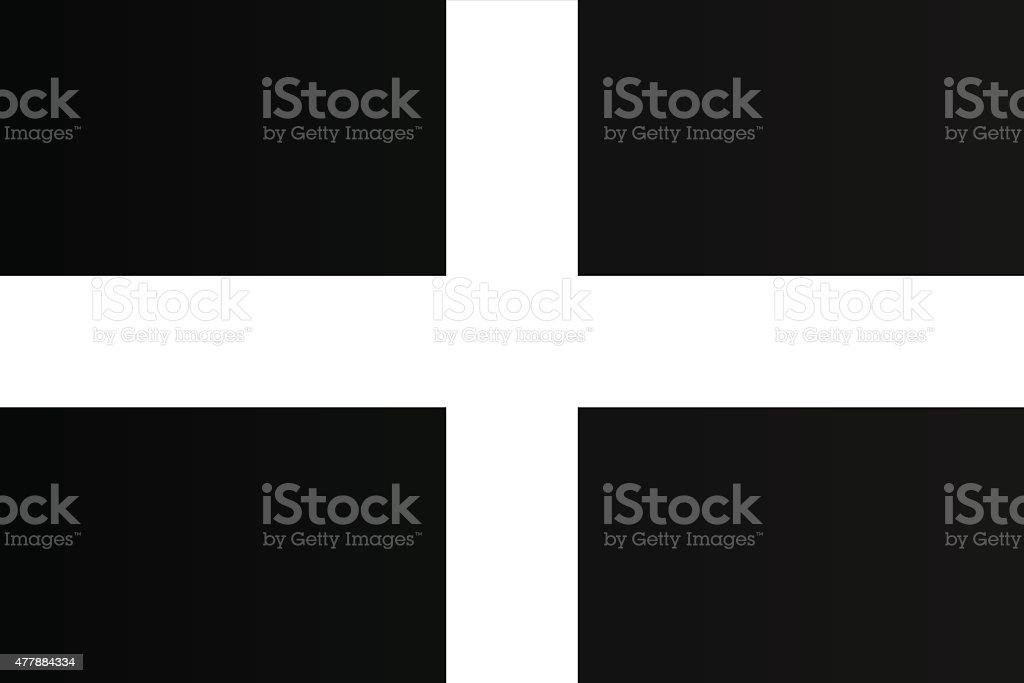 Flag of Cornwall vector art illustration