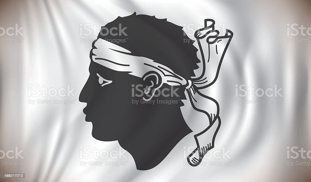 Flag of Corsica vector art illustration