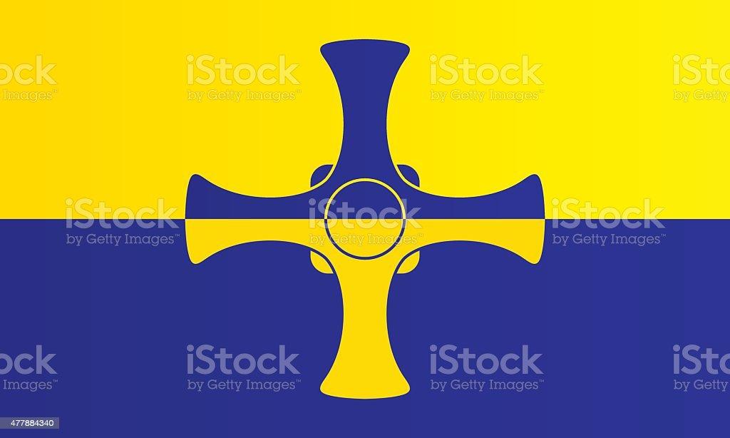 Flag of County Durham vector art illustration