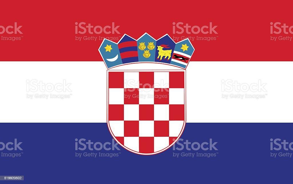 Flag of Croatia vector art illustration