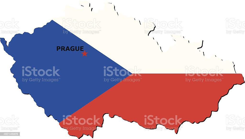 Flag Of Czech Republic royalty-free stock vector art