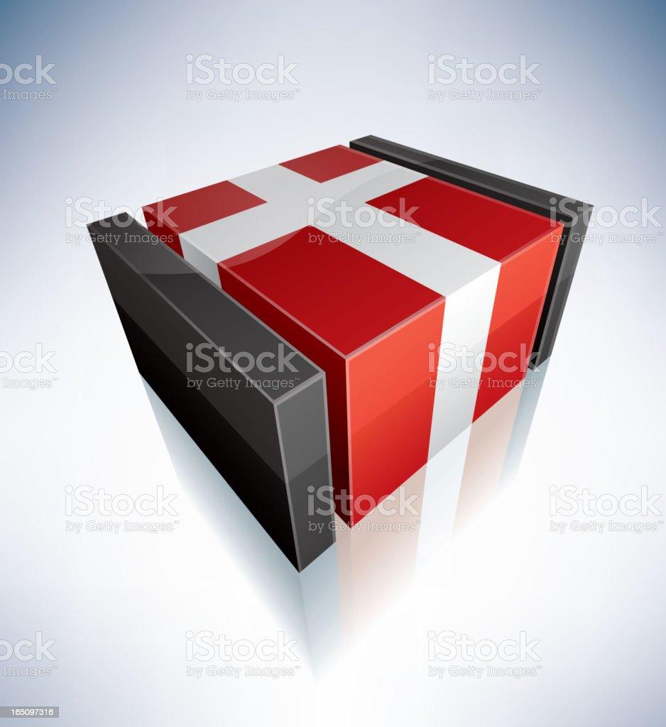 3D flag of Denmark royalty-free stock vector art