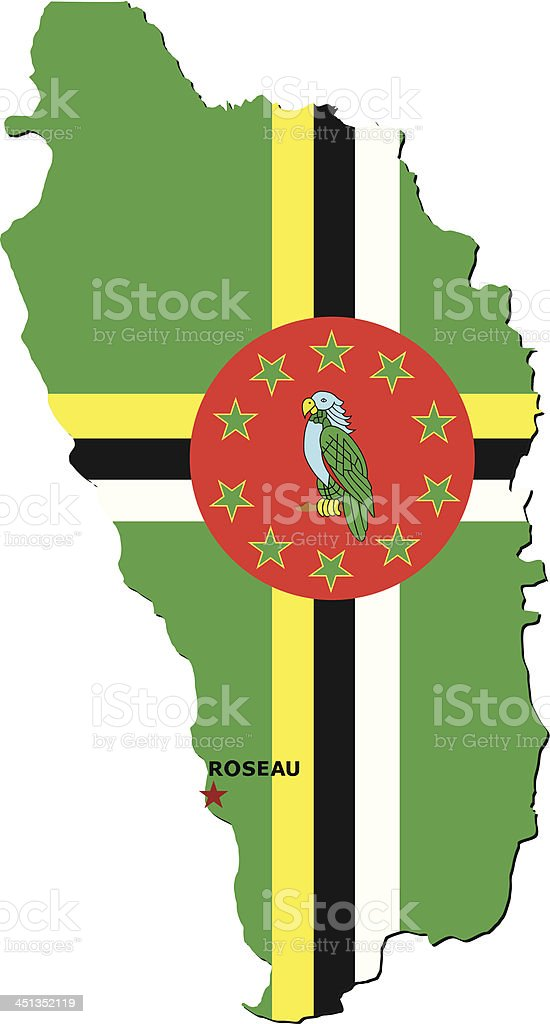Flag Of Dominica royalty-free stock vector art