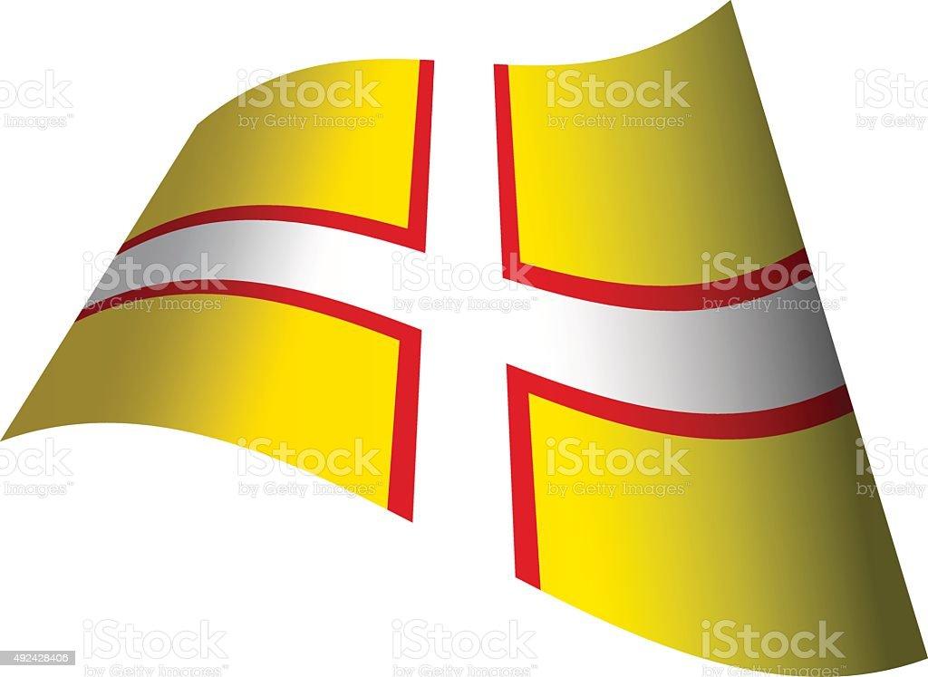 Flag of Dorset vector art illustration