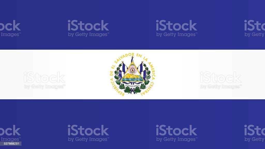 Flag of El Salvador vector art illustration