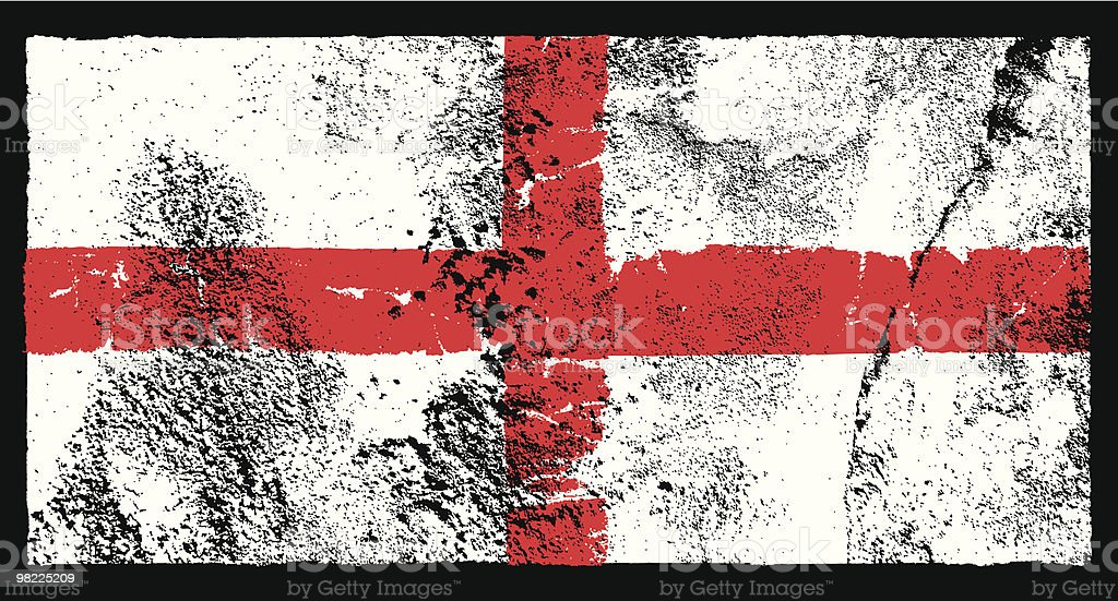 Flag of England, Grunge Style royalty-free stock vector art