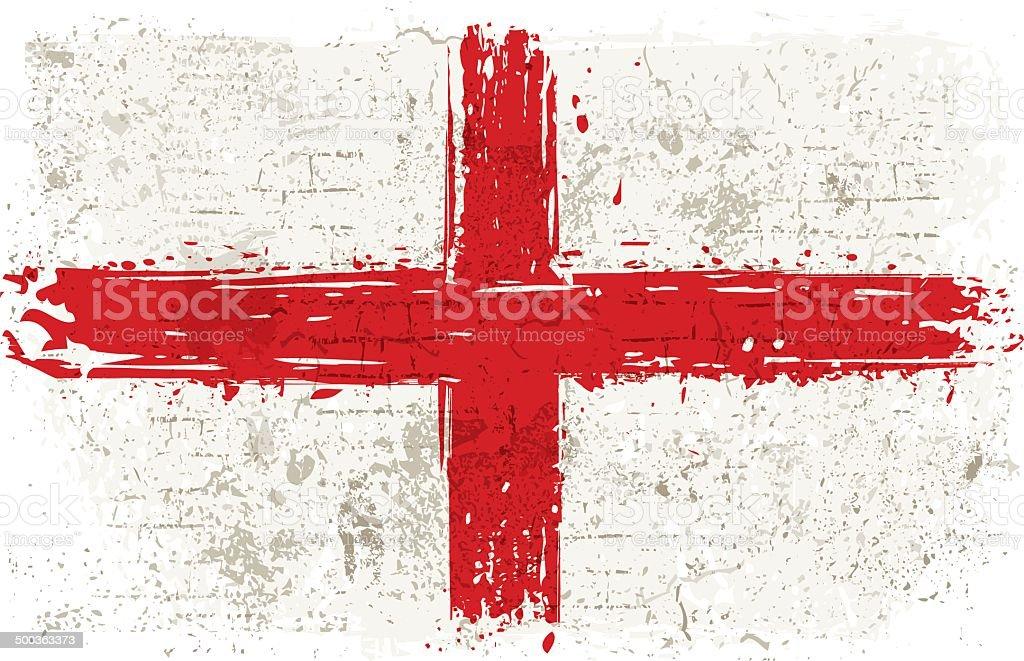 Flag of England on Wall vector art illustration