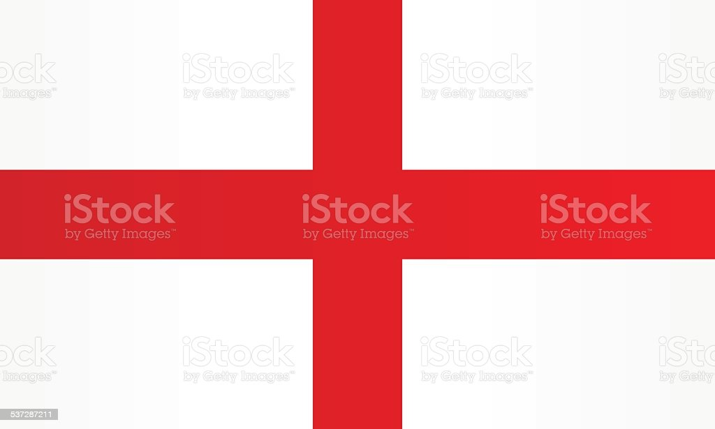 Flag of England vector art illustration