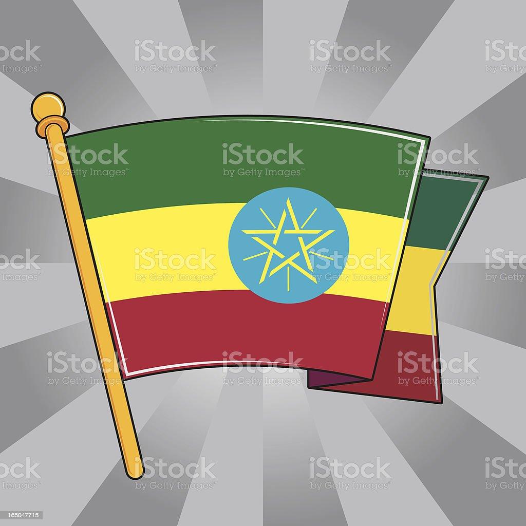 Flag of Ethiopia royalty-free stock vector art