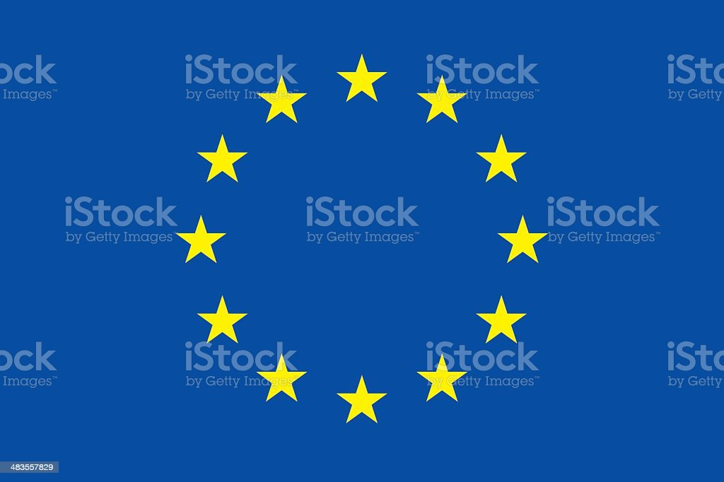 Flag of Europe royalty-free stock vector art