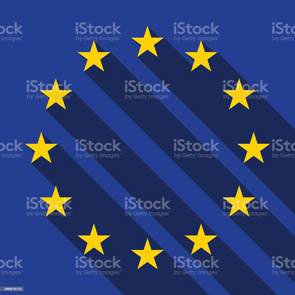 Flag of Europe, vector vector art illustration