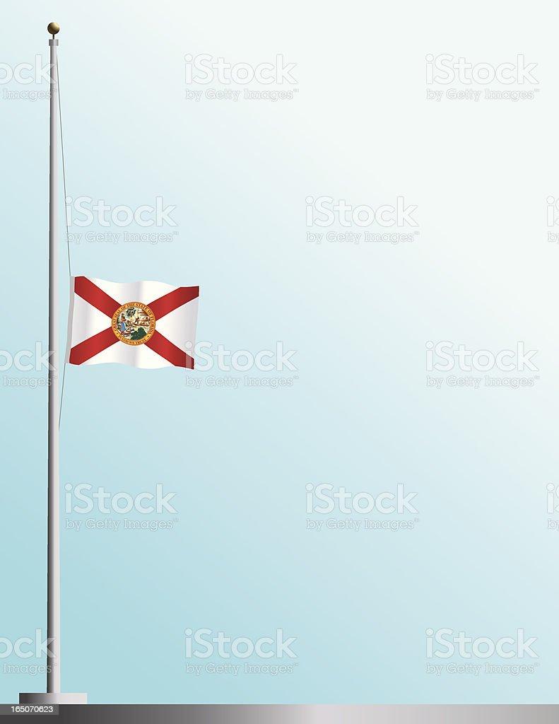 Flag of Florida at Half-Staff royalty-free stock vector art