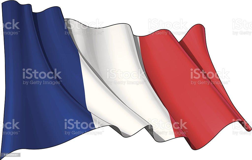 Flag of France royalty-free stock vector art